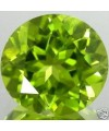 Peridot naturel taille ronde a facettes 5 mm 0.57 carat