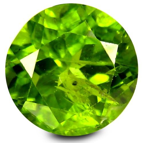 Enorme Peridot naturel taille ronde a facettes 9.62x9.62x6.04 mm 3.84 carats