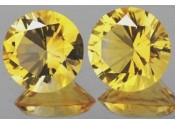 Citrine or naturelle ronde à facettes 5 mm 0.5 carat Pierresdumonde