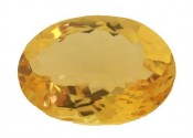 Citrine jaune or naturelle taille ovale a facettes 18x13 mm