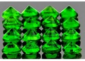 Diopside chrome rond a facettes 2 mm