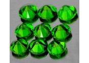 Diopside chrome rond a facettes 3 mm