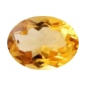 Citrine jaune or taille ovale a facettes 7x5 mm
