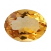 Citrine jaune or taille ovale a facettes 8x6 mm