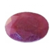 Rubis naturel taille ovale a facettes 10x8 mm  3.50 carats