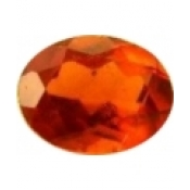 Grenat hessonite taille ovale a facettes 7x5 mm  0.75 carat