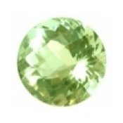 Superbe prasiolite naturelle taille ronde a facettes 10x10 mm 3.30  carats
