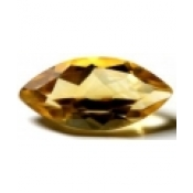 Citrine jaune or taille marquise 14x7 mm