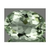 Superbe prasiolite naturelle taille ovale a facettes 18x13 mm 10.50 carats
