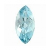 Belle  Aigue marine taille marquise a facettes 10x5 mm