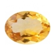 Citrine jaune or taille ovale a facettes 9x7 mm