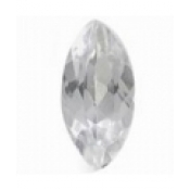 Topaze blanche taille marquise a facettes 10x5 mm 1.20  carats