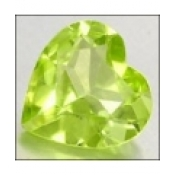 Peridot naturel taille coeur a facettes 6x6 mm 0.83 carat