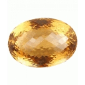 Pierre fine : Sublime citrine madeira naturelle  taille ovale a facettes 35.00 x 24.00 x 21.69 mm  118.99 carats