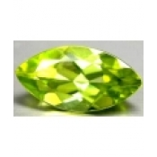 Peridot naturel taille marquise a facettes 14x7 mm 2.40 carats