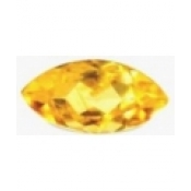 Citrine jaune or taille marquise 12x6 mm