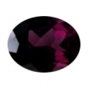 grenat rhodolite ovale a facettes 9x7 mm
