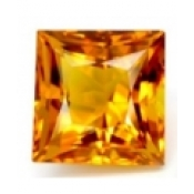 Citrine jaune or naturelle taille carree 6x6 mm