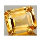 Citrine naturelle jaune or taille emeraude 10x8 mm