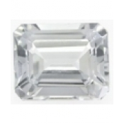 Topaze blanche taille emeraude 11x9 mm 4.35  carats