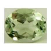 Superbe prasiolite naturelle taille ovale a facettes 10x8 mm 2.25 carats
