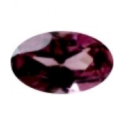 grenat rhodolite ovale a facettes 5x3 mm