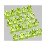 Peridot naturel taille coeur a facettes 4x4 mm 0.25 carat