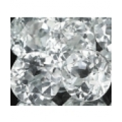 Topaze blanche taille ronde a facettes 5 mm 0.59  carat