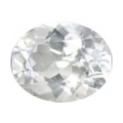 Topaze blanche taille ovale a facettes 10x8 mm 3.27  carats