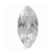 Quartz blanc taille marquise 16x8 mm  3.85  carats