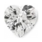 Topaze blanche taille coeur a facettes 8x8 mm 2.20  carats