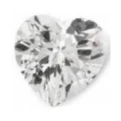 Topaze blanche taille coeur a facettes 15x15 mm 12.50  carats