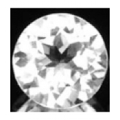 Topaze blanche taille ronde a facettes 8 mm 2.25  carats