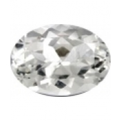 Topaze blanche taille ovale a facettes 18x13  mm 15.00  carats