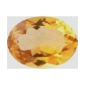 Citrine jaune or taille ovale a facettes 10x8 mm