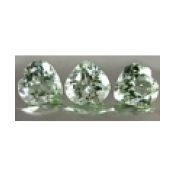 Superbe prasiolite naturelle taille coeur a facettes 12x12 mm 5.00 carats