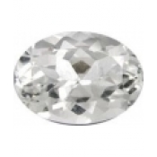 Topaze blanche taille ovale a facettes 14x10  mm 6.50  carats