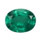Emeraude de synthese hydrothermale ovale a facettes 10x8 mm 2.65 carats