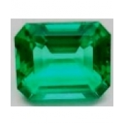 Emeraude de synthese hydrothermale octagonale  8x6 mm 1.48 carat