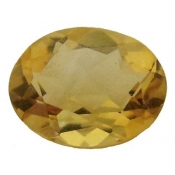 Citrine jaune or taille ovale a facettes 14x10 mm