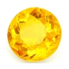 Citrine jaune or naturelle taille ronde  7  mm