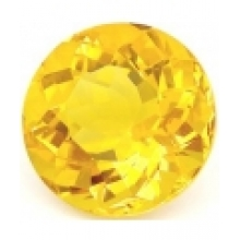 citrine or ronde 10 mm