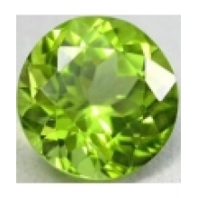 Enorme Peridot naturel taille ronde a facettes 10 mm 4.50 carats
