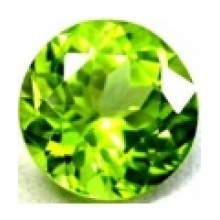 Enorme Peridot naturel taille ronde a facettes 9 mm 3.33 carats