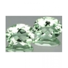 Superbe prasiolite naturelle taille ovale a facettes 9x7 mm 1.66 carat
