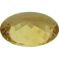 Citrine or naturelle ovale a facettes 18x13 mm 11.03 carats Pierresdumonde