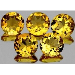 citrine jaune or naturelle taille ronde 4 mm 0.28 carat Pierresdumonde