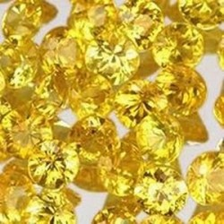 Saphir jaune naturel rond 3x3 mm 0.13 carat Pierresdumonde