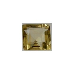Citrine lemon taille carree 6x6 mm
