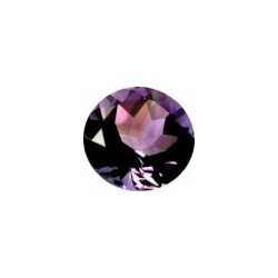 Amethyste naturelle taille ronde a facettes 10 mm